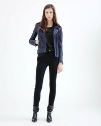 IRO - HAN LEATHER JACKET NAVY