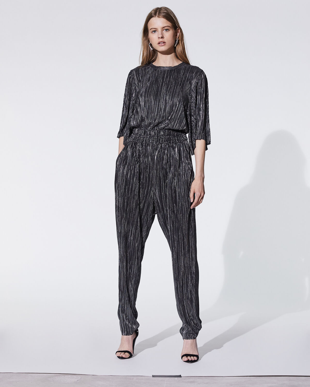 Chimbote Jumpsuit Black And Silver by IRO Paris