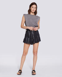 IRO - JUPE-SHORT TIE AND DYE À SEQUINS KANIR BLACK/WHITE