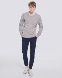 IRO - PULL  COL ROND TOUCHER DOUX PHOEBO MIXED GREY
