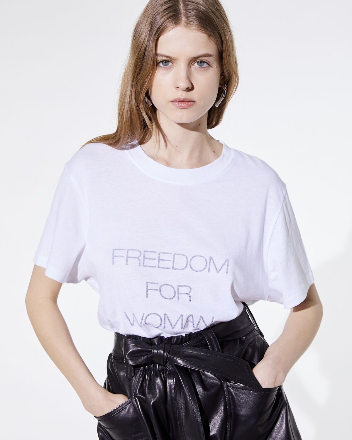 IRO - T-SHIRT FREEDY WHITE