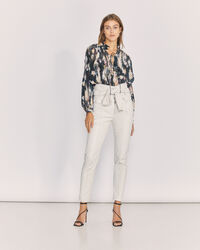 IRO - ELDRED PAPERBAG LEATHER TROUSERS OFF WHITE