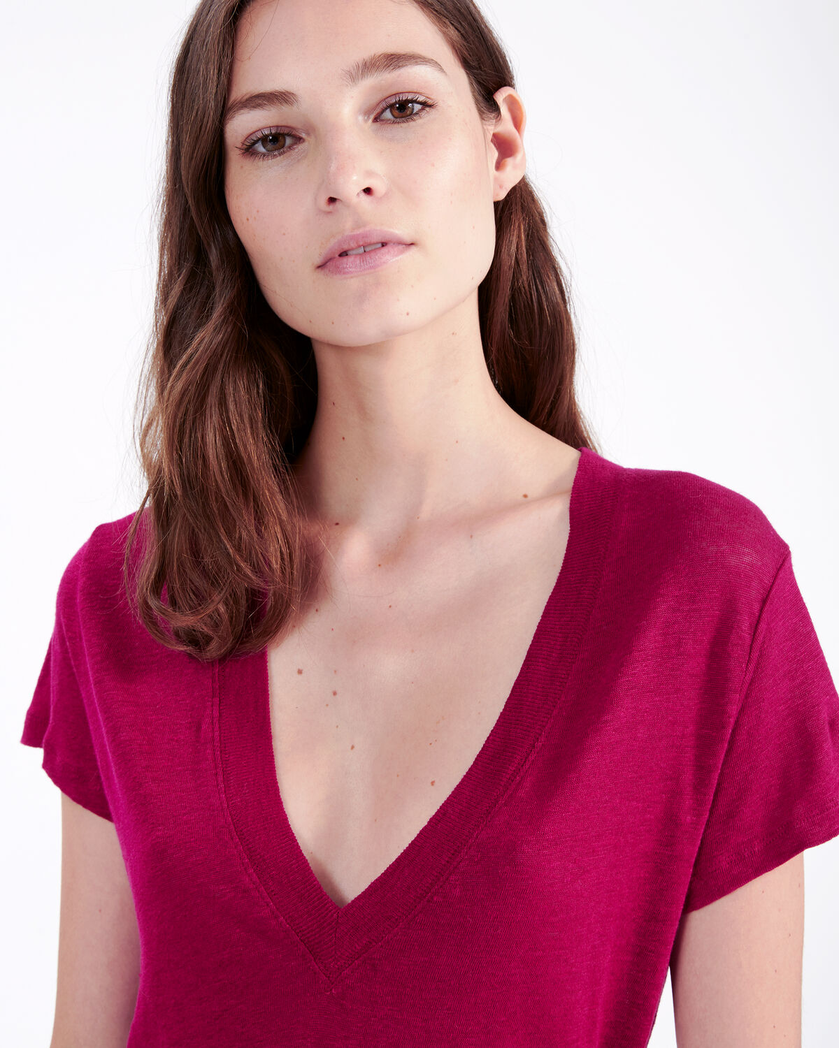IRO - RODEO T-SHIRT FUSHIA