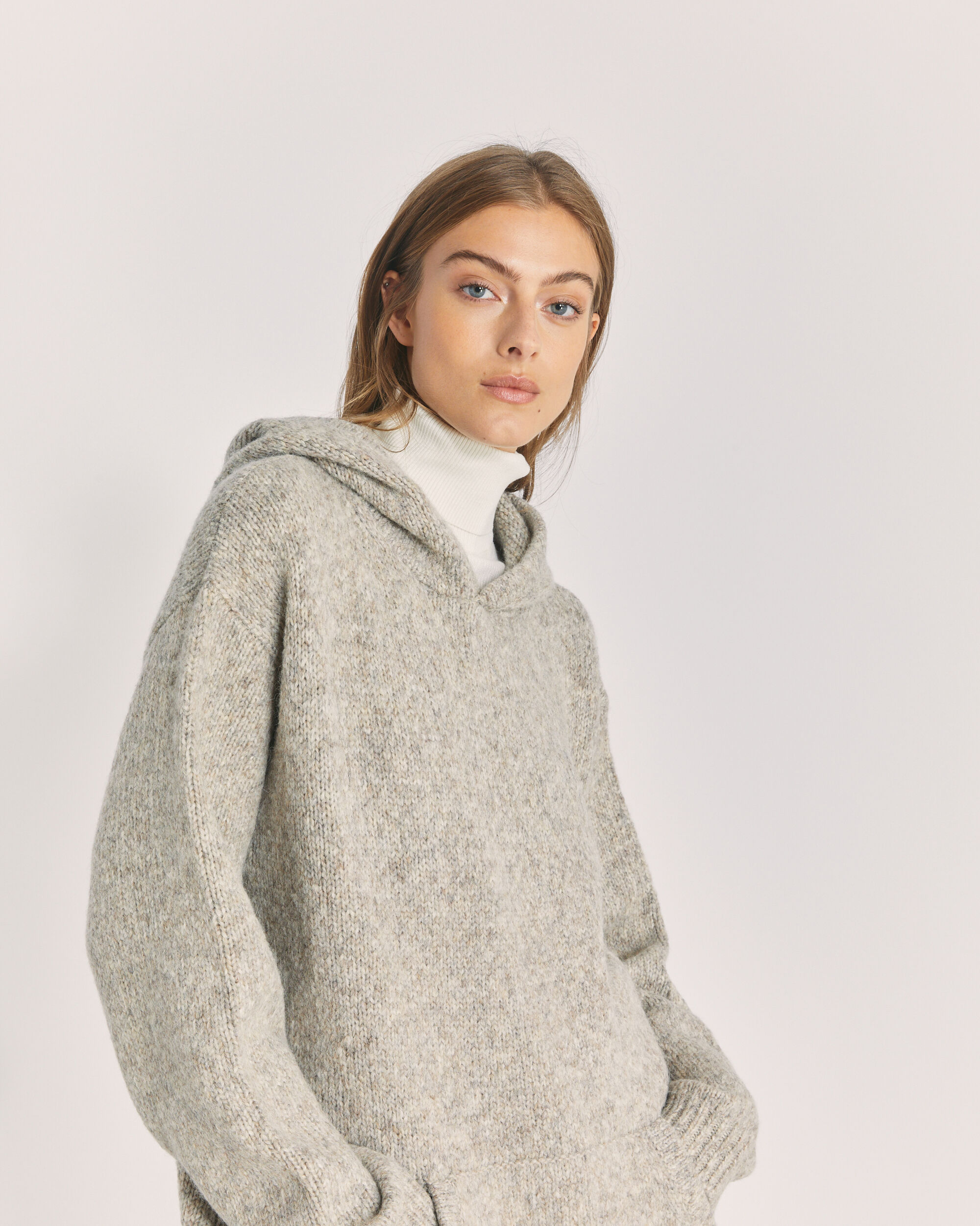 IRO LAUREN SWEATER,MIXED BEIGE