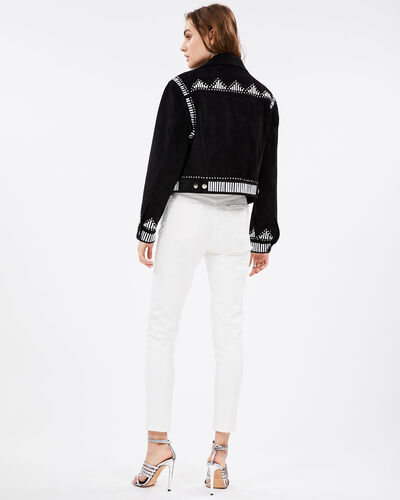 IRO - AUGUST JACKET BLACK/WHITE