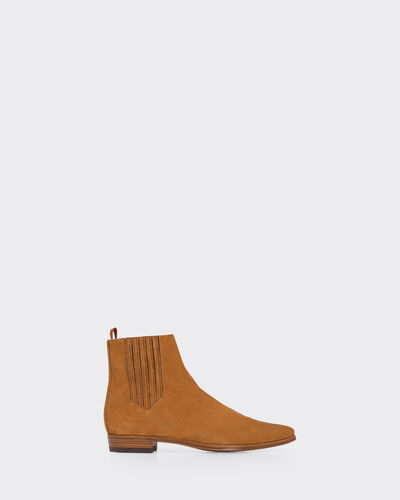 IRO - BOTTINES BUSS CAMEL
