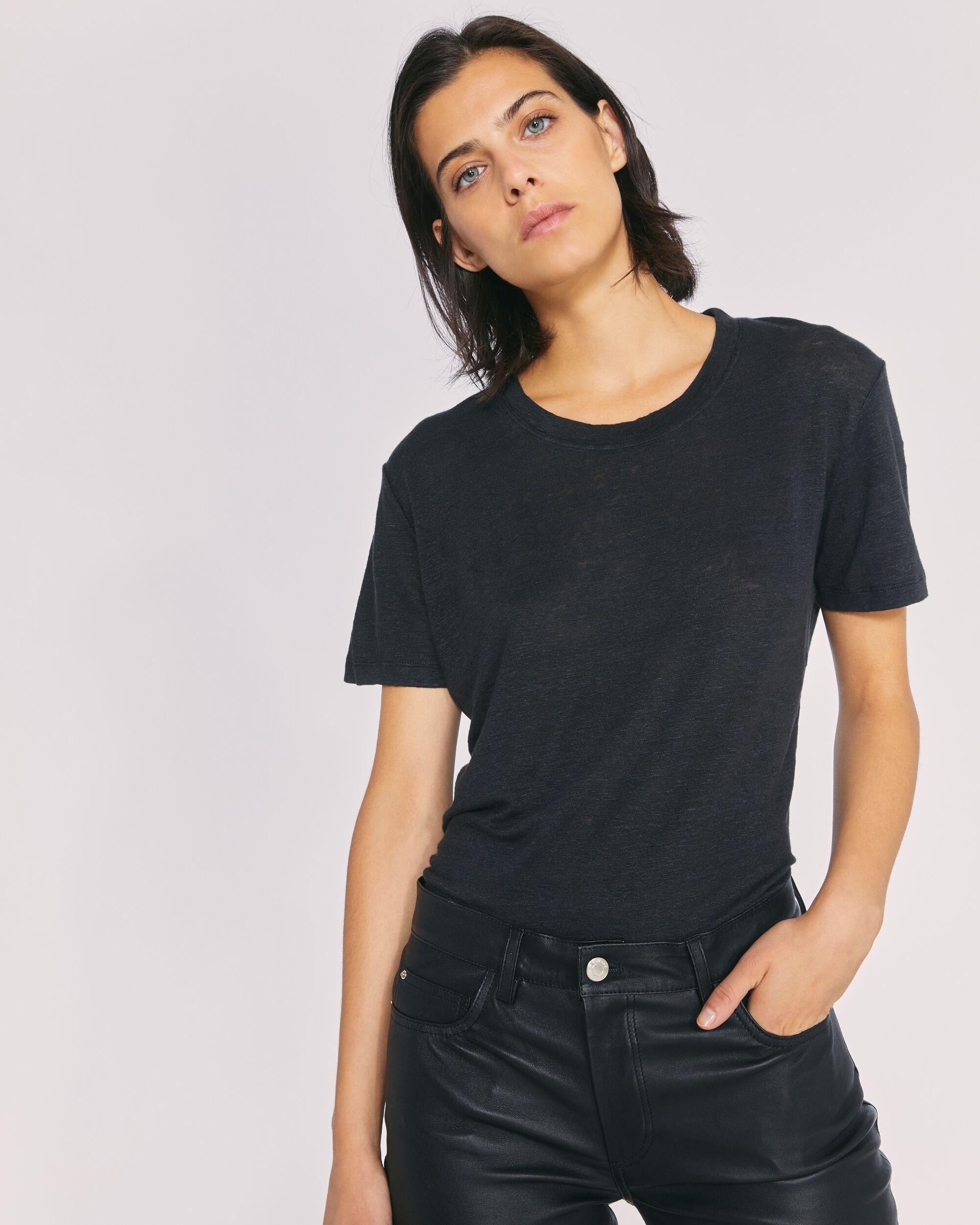 이로 티셔츠 IRO LUCIANA T-SHIRT,BLACK