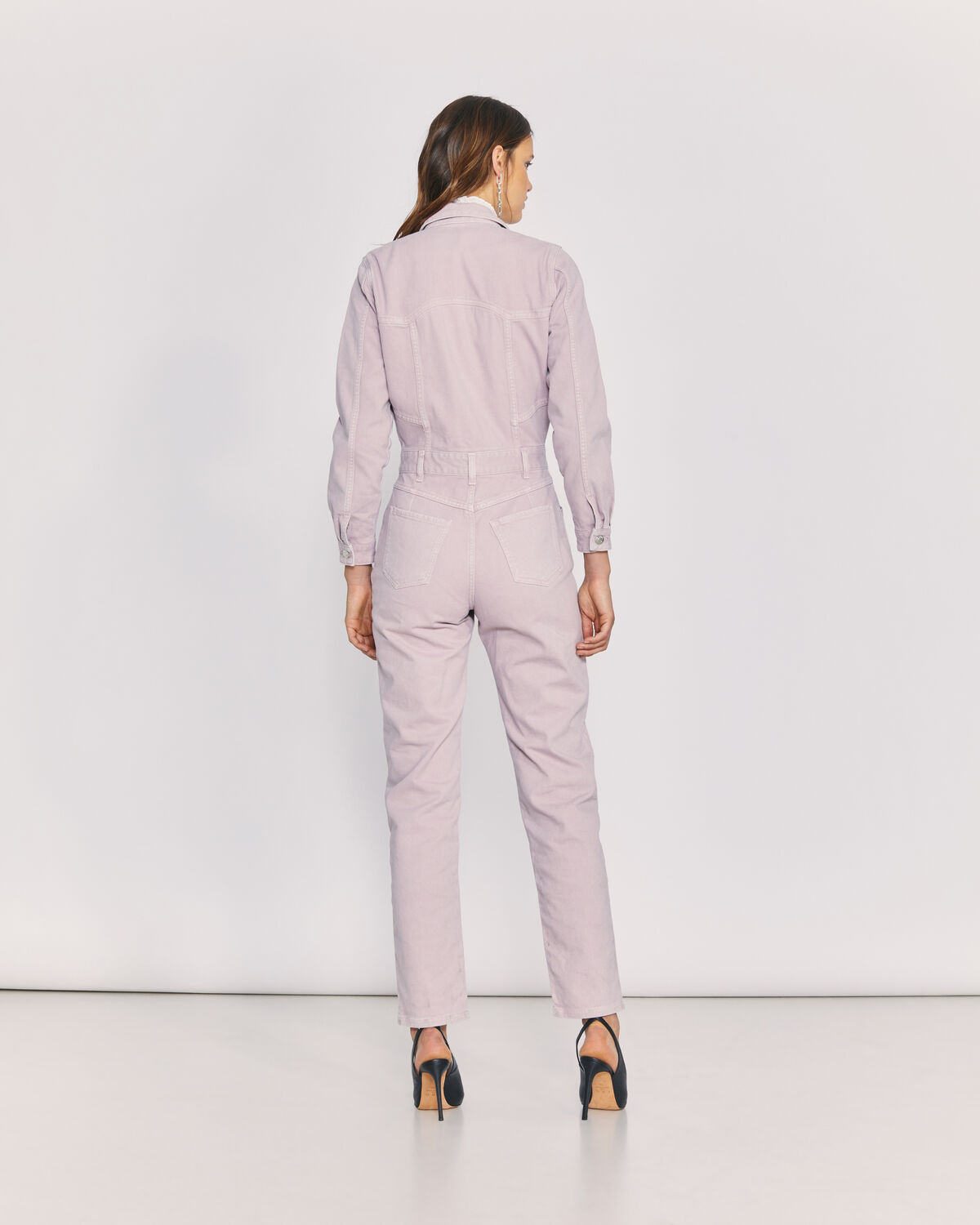 IRO - LIKASI DENIM UTILITY JUMPSUIT OLD PINK