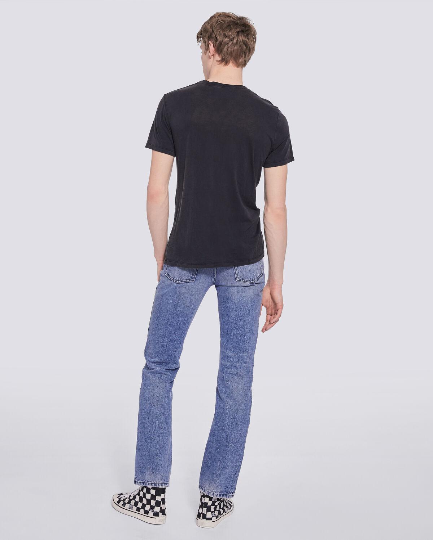 IRO - BRUT CREW NECK LOGO T SHIRT USED BLACK