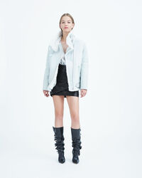 IRO - MANTEAU BARRETT CLOUDY WHITE