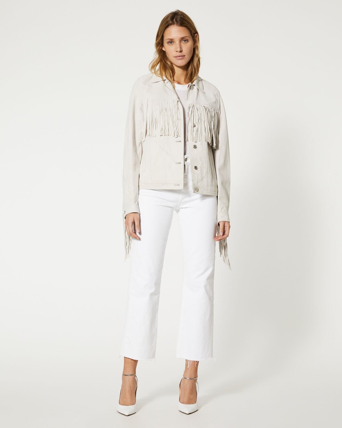 IRO - VESTE RUSSELL LIGHT GREY