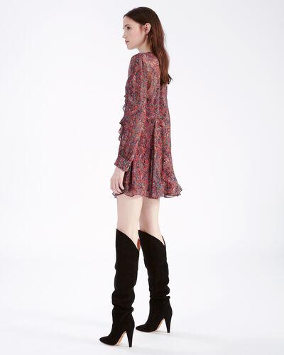 IRO - HONESS DRESS DARK RED