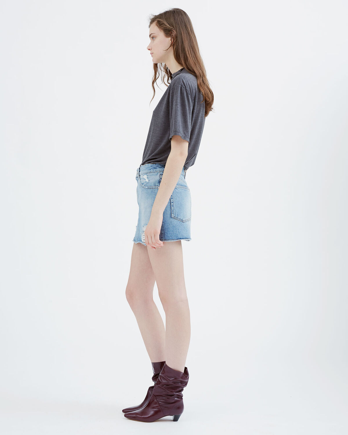 IRO - GIOH SKIRT LIGHT DENIM