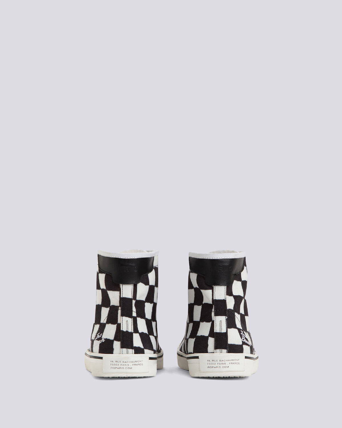IRO - CAHILL LACE UP CHECKERED SNEAKERS BLACK/WHITE