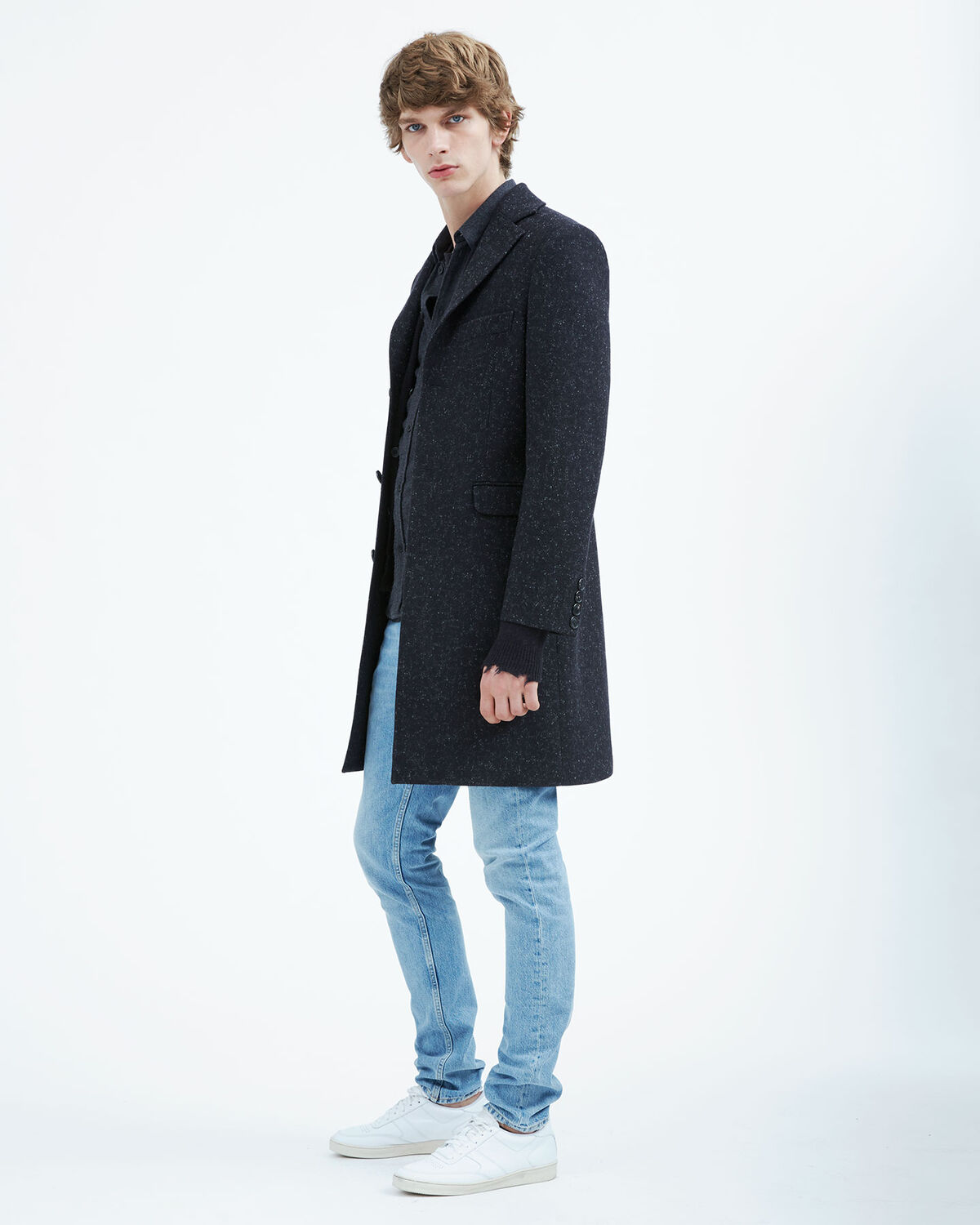IRO - MANTEAU STERO BLACK/DARK GREY